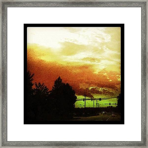 Just Driving Framed Print