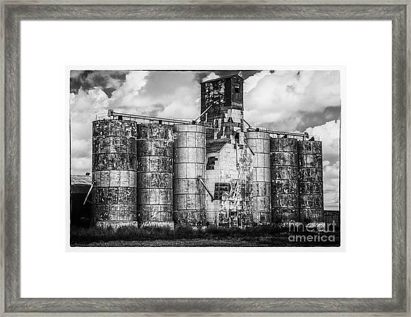 Kansas Grain Elevator Framed Print