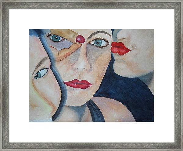 Kate And Friends Framed Print
