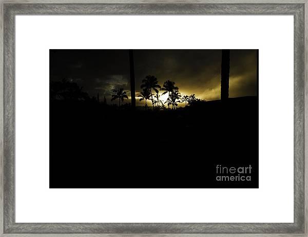 Kauai Storm Sunset Framed Print