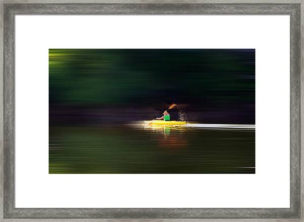 Kayak Ks Framed Print
