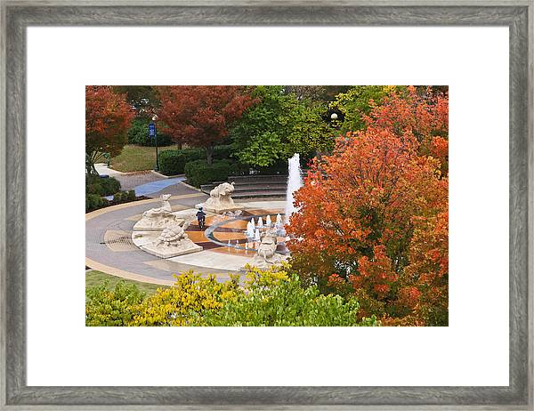 Keeping Dry Framed Print