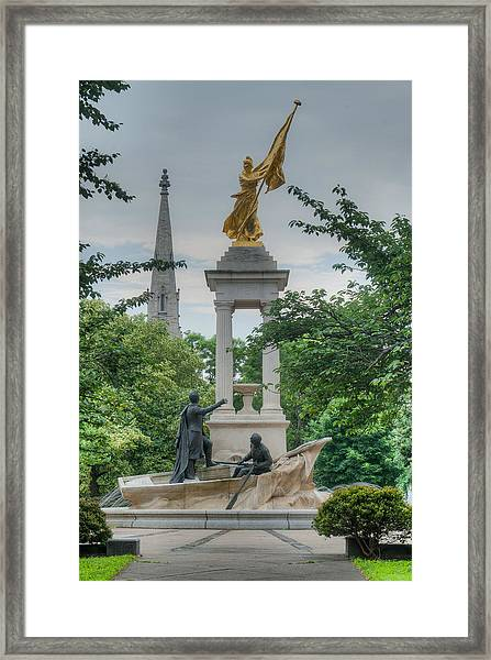 Keeping The Oar In The Water Framed Print