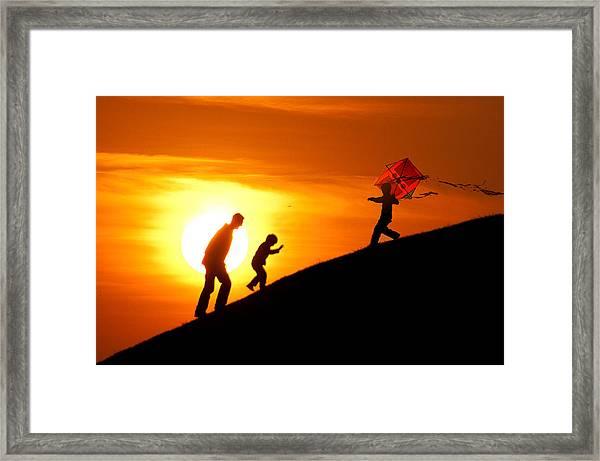 Kite Framed Print by Okan YILMAZ