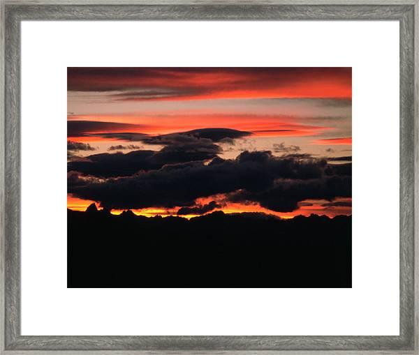 Kitseguecla Sunset Framed Print