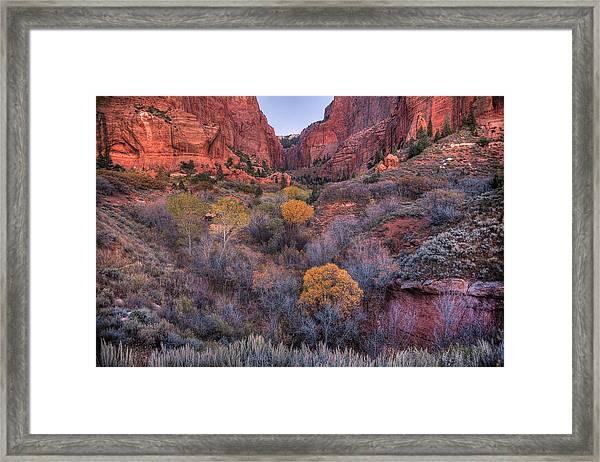 Kolob Canyon Framed Print