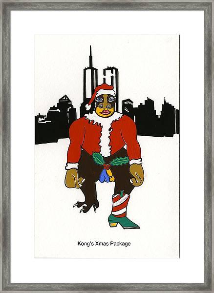 Kong's Xmas Package Framed Print