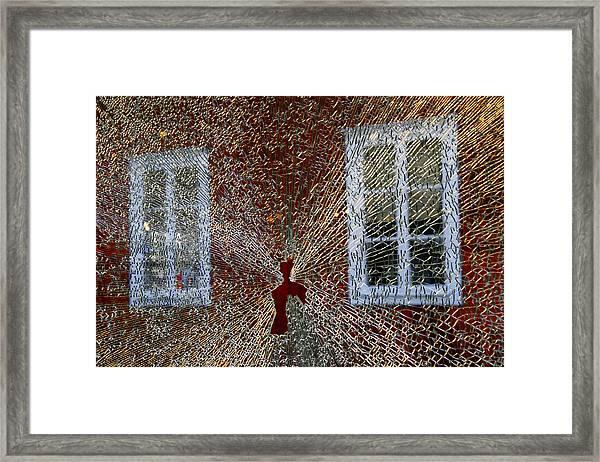 Kosta Shattered Framed Print