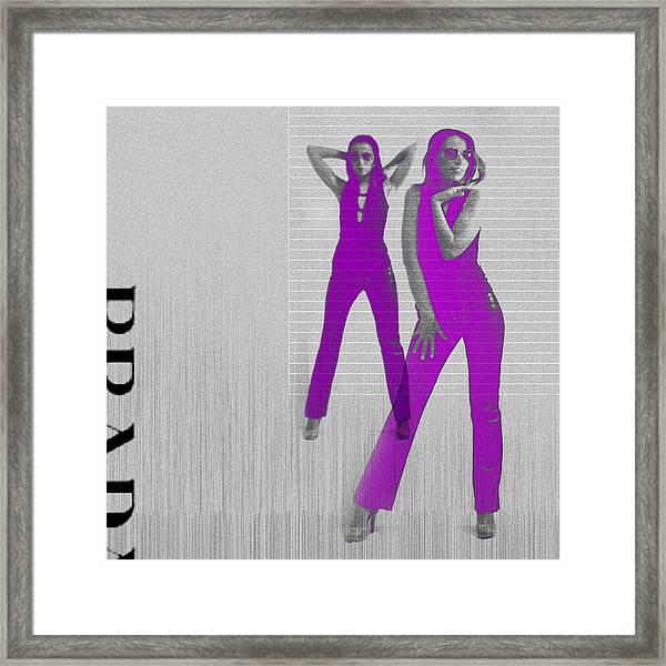 Kristina In Purple Framed Print