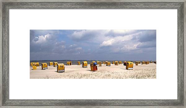 Laboe Beach ... Framed Print