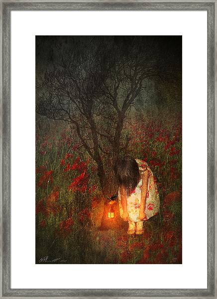 Laces Undone Framed Print