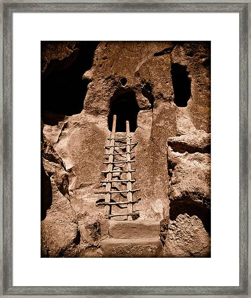 Bandelier National Monument, New Mexico - Ladder Face Framed Print