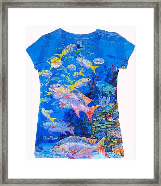 Ladies Mutton Snapper Shirt Framed Print