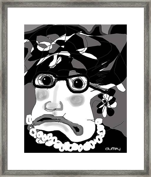 Lady Millicent Was Not To Be Outdone In The Crazy Hat Department Framed Print