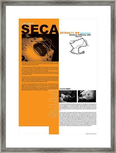 Laguna Seca Framed Print