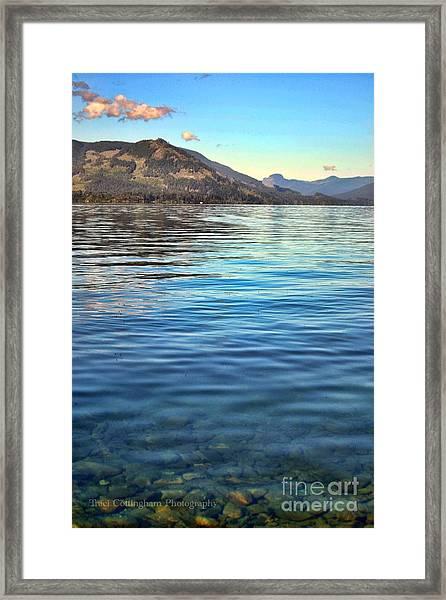 Lake Cowichan Bc Framed Print