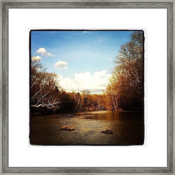 #lake #creek #nature #ohio Framed Print