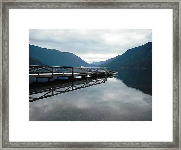 Lake Crescent Framed Print