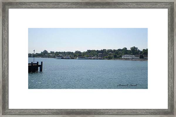 Lake Huron Shoreline Collection - St. Ignace Mi Harbor Framed Print