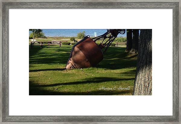 Lake Mi Park - Mackinaw City M Collectionsi   Framed Print