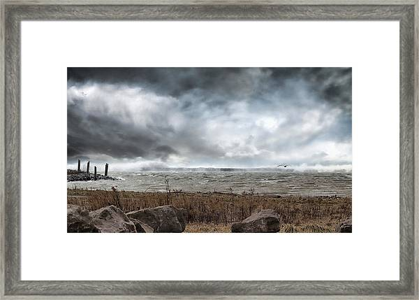 Lake Storm Framed Print
