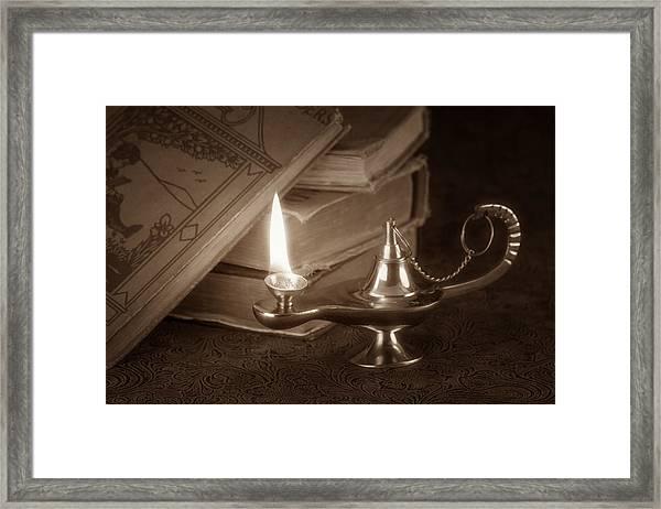 Lamp Of Learning Framed Print