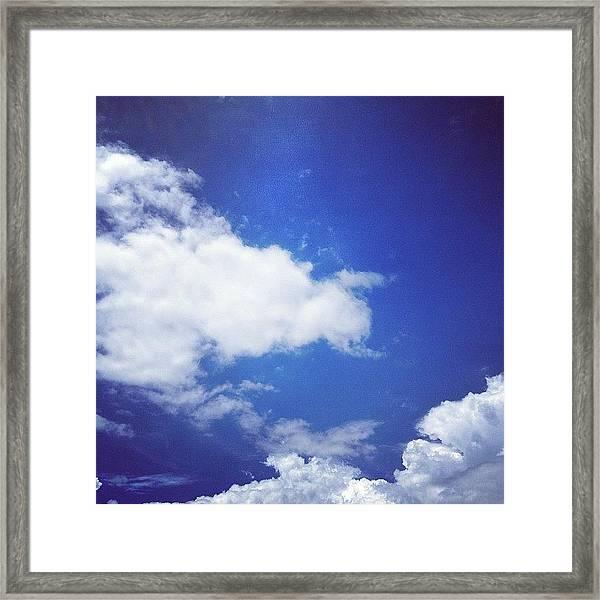 Last Summer Sky Framed Print