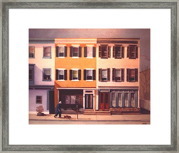 Late Afternoon On Church Street Framed Print