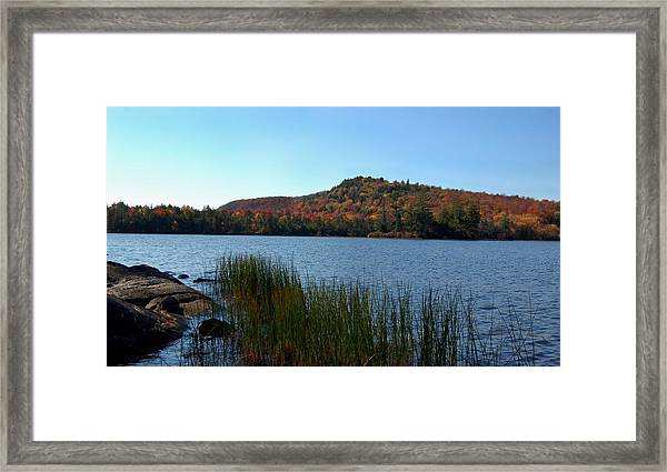 Late Fall On Lake Lila Framed Print