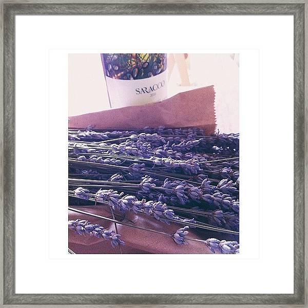 Lavender Still-life Framed Print