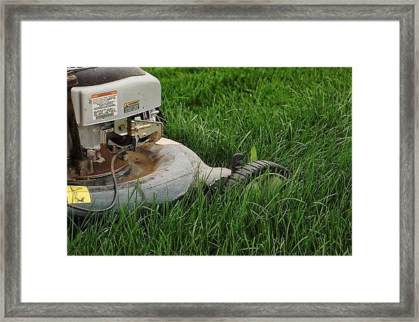 Lawn Mower Framed Print
