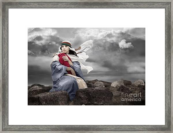 Leaving Bethlehem Framed Print