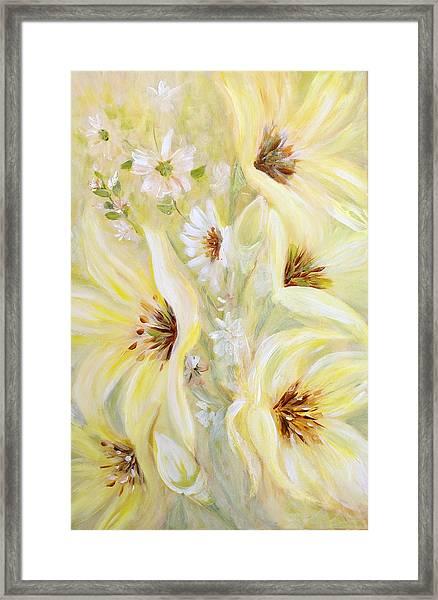 Lemon Chiffon Framed Print