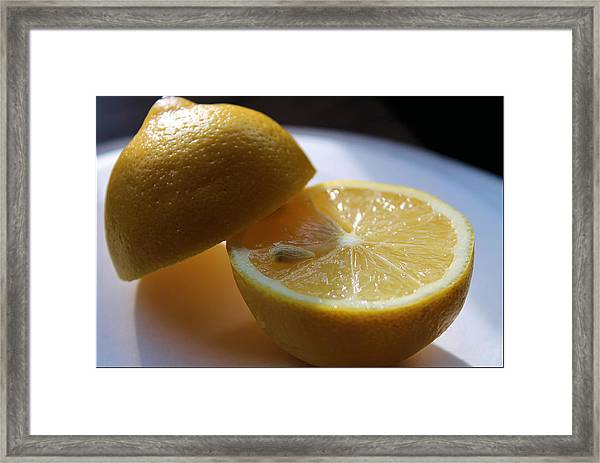Lemon Slices Framed Print