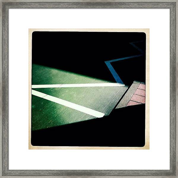 Light And Shadow Triangles Framed Print