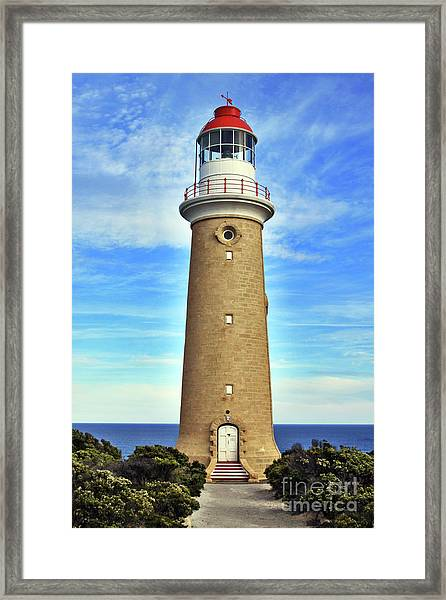 Light House At Cape Du Couedic Framed Print
