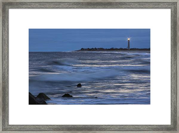 Lighthouse At Twilight Framed Print