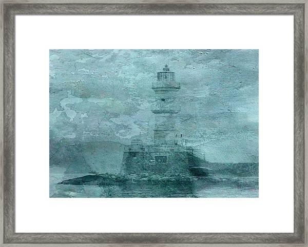 Lighthouse Impasto Framed Print
