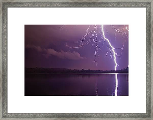 Lighting Over Massapoag Framed Print