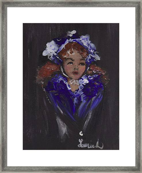 Lil Girl Blue Framed Print
