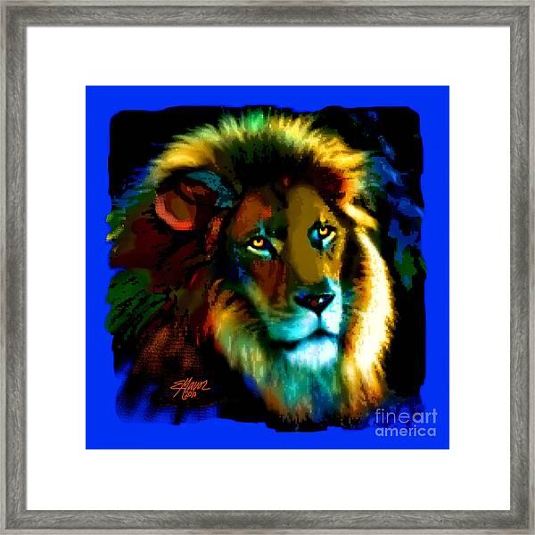 Lion Icon Framed Print