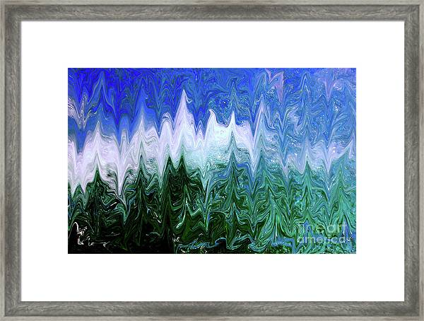 Liquid Green Splash Framed Print