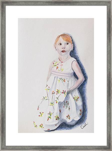 Little Angel Framed Print