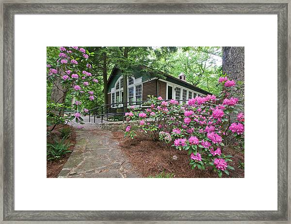 Little Brown Church In Spring Framed Print