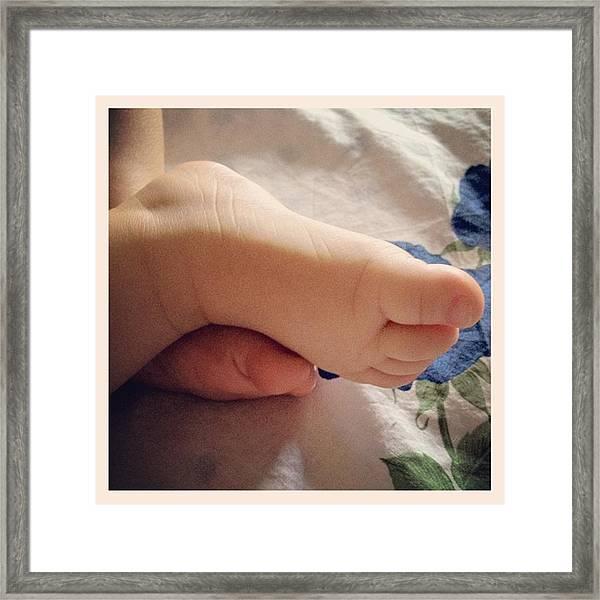 Little Foot Framed Print