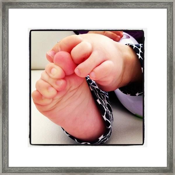 Little Foots Framed Print