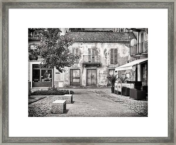 Little Italian Corner Framed Print