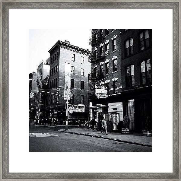 Little Italy - New York City Framed Print