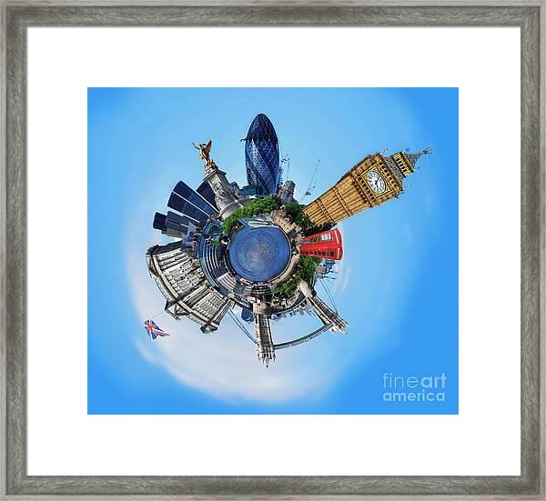 Little Planet - London Framed Print