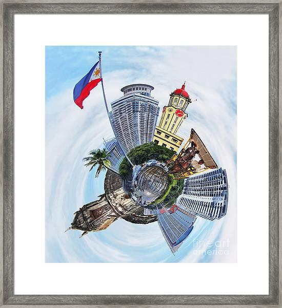 Little Planet - Manila Framed Print